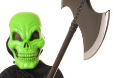 Halloween Ghoul Five. Young boy in a ghoul halloween costume Stock Photo