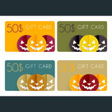 Halloween gift cards Stock Photo