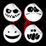 halloween gigantiska smileysetiketter Arkivbild