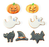 Halloween gingerbread cookie set Royalty Free Stock Photo