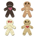 Halloween Gingerbread Isolated on White Background vector illustration