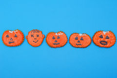Halloween Gingerbread. Items in the form of pumpkins and a face royalty free stock image
