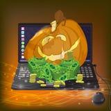 Halloween Giochi online Vittoria e posta illustrazione vettoriale