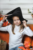 Halloween girl Stock Photos