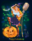 Halloween girl night Royalty Free Stock Images
