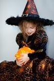 Halloween. Girl portray evil sorceress Stock Images