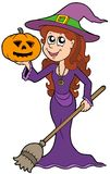 Halloween girl wizard Royalty Free Stock Photos