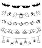 Halloween-Girlande, Vektorsatz Stockfoto