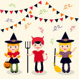 Halloween girls Stock Images