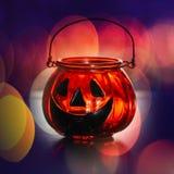 Halloween glass pumpkin Stock Photos