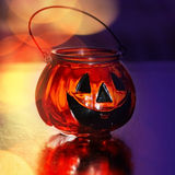 Halloween glass pumpkin Royalty Free Stock Photo