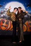 Halloween glitter couple Royalty Free Stock Images
