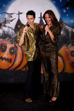 Halloween glitter couple Stock Photo