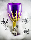 Halloween Goblet with skulls Stock Images