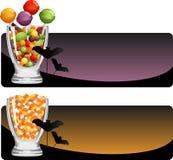 Halloween godisuppsättning vektor illustrationer