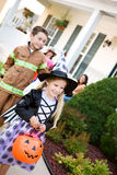 Halloween: Going to Get More Candy At Next House Royalty Free Stock Photos