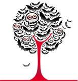 Halloween golpeia a árvore 2 ilustração do vetor