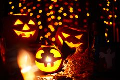 Halloween gourds royalty free stock photography