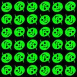 Halloween - grüner Kürbis geht Muster voran Stockfotos