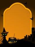 Halloween-Grabsteinhintergrund Lizenzfreies Stockfoto