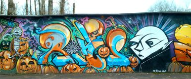 Halloween-Graffiti lizenzfreie stockbilder