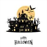 Halloween graphic card background. Black design Royalty Free Stock Photos