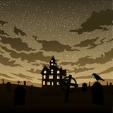 Halloween graphic card background. Black design Stock Images