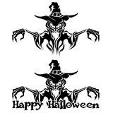 Halloween Graphic of Witch or Warlock Royalty Free Stock Photography