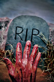 Halloween grave Royalty Free Stock Photo