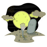 Halloween grave Stock Images