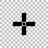 Halloween Grave Cross icon flat royalty free illustration