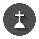 Halloween grave icon. Gravestone vector illustration. Rip tombst Stock Photos