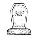 Halloween grave illustration Stock Images