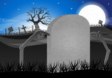 Halloween grave stone to write on Royalty Free Stock Images