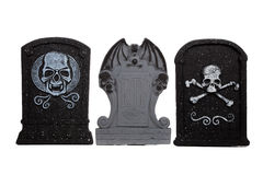 Halloween grave stones on a white Stock Image