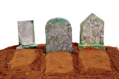 Halloween graves Royalty Free Stock Photo
