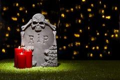 Halloween gravestone Stock Images