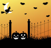 Halloween Graveyard Stock Photo
