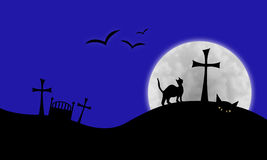 Halloween graveyard Stock Photography