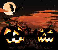 Halloween graveyard background Stock Photos