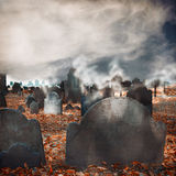 Halloween graveyard background Stock Photography