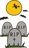 Halloween Graveyard Royalty Free Stock Photos
