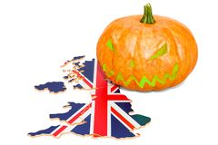 Halloween in the Great Britain concept, 3D rendering. Isolated on white background royalty free illustration