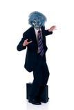 Halloween greedy businessman Royalty Free Stock Photo