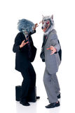 Halloween greedy businessmen Stock Photography