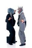 Halloween greedy businessmen Stock Photography