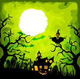Halloween green background Royalty Free Stock Photos