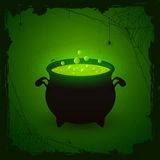 Halloween green background with potion Stock Images