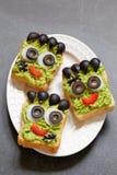 Halloween green monster sandwich Stock Images