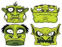 Halloween green scary zombie head illustration Stock Photography